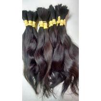 Cabelo Natural Humano Ondulado Castanho 50gr 35cm -mega Hair