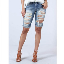 Bermuda Jeans Destroyed Feminina Denuncia