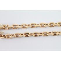 Cordão Cadeado Oco Em Ouro 18k 750