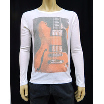 Camiseta Osklen Music Texturizada Promoção - Mh Multimarcas