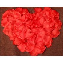 1000 Pétalas De Rosa Vermelha Seda Artificial Para Decoração