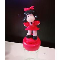 Mafalda En Porcelana Fría Frasco Caramelero!! Souvenirs