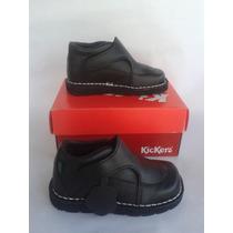 Zapatos Escolares Negros Kickers Para Niños