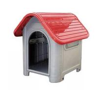 Casinha Plástico Cachorro Desmontável N.3 Med.porte Vermelha