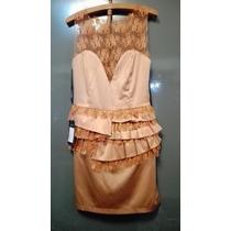 Vestido De Fiesta Corto Diseñadora Natalia Antolin Nuevo