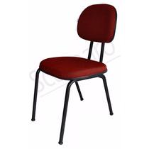 Cadeira Fixa Para Igrejas E Auditorios Espuma Injetada 5cm