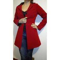 Abrigo Rojo Mujer