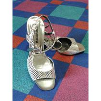 Zapatos Elegante Ferradini Plateados Dama #37