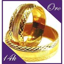 Bellas Argolllas De Matrimonio En Fino Oro 14k Envio Gratis