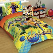 Set Edredon Individual Toy Story Hd + Funda Decorativa