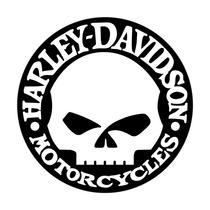 Adesivo Refletivo Skull Harley Davidson - Pronta Entrega!