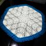 Tapete Grande De Crochê Para Sala, Quarto 1,50 Cm Diâmetro
