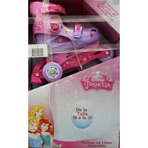 Patines De Princesas De Disney Para Niñas Talla 18 A 21