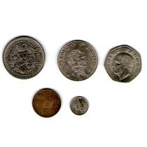 Paquete De Monedas Mexicanas De 50, 10 , 5 Pesos Y 10 Ctvs