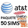 Chip Sims At&t Y Unefon 50 Sims $10 X Pieza Lada D.f.