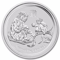 Australia, 2016 Año Del Mono 1 Kilo Plata .999 En Cápsula.