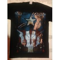Playera Superhéroe ,torso Capitan Capitán America, Civil War