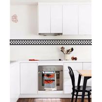 Adesivo Decorativo De Pastilhas Faixas P/ Banheiro E Cozinha