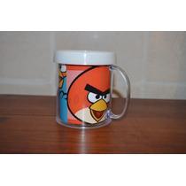Lote 10 Tazas Angry Birds Plastica Personalizada