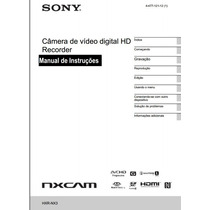 Manual Em Português Sony Hxr-nx3.