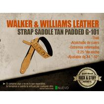 Strap Piel Walker & Williams ( Fender Gibson Marshall )