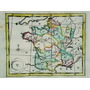 Antiguo Mapa Del Reino De Francia Del Siglo Xviii