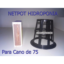 40und Net Pot 75 Aquario Hidroponia Cano Pvc Copo Rede Pote