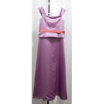 Lilasori Vestido De Fiesta Para Jovencita Talla 10 Colr Lila