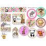 Stickers Candy Bar Animalitos De Selva /jungla Zoo Nena
