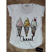 Camiseta Feminina Chanel Blusa T-shirt