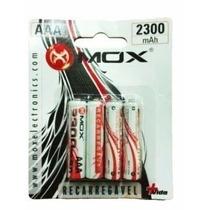 Pilha/bateria Recarregavel Mox 4 Aaa 2300mah