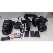Câmera Profissional Nikon D70 +lentes+flash+maleta