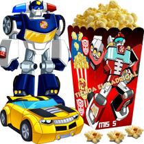 Kit Imprimible Transformers Rescue Bots Cumple Cotillon