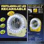 Ventilador Recargable Portatil,lampara De Emergencia
