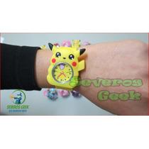 Relogio Infantil Pokemon Pikachu Frozen Aranha Canino Craft