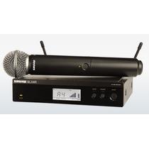 Microfone Sem Fio Shure Blx24 Sm58 P/ Rack