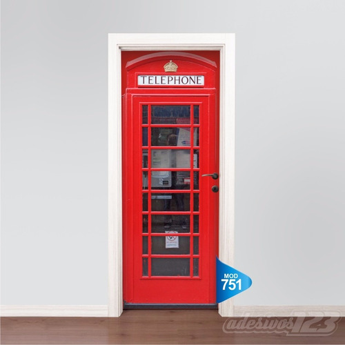 4a2e8cd74 Adesivo 123 Porta Cabine Telefonica Londres Telephone M751 - R  69 ...