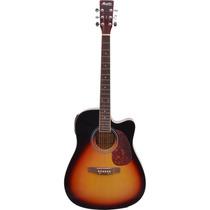 Violão Elétrico Tagima Memphis Folk Aço Md18 Sunburst