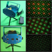 Mini Laser Audioritmico Efecto Lluvia Multipunto Rojo Verde