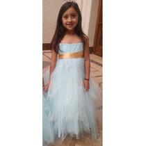 Vestido De Fiesta Nena Cortejo Casamiento Importado Talle 4