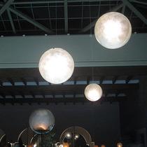 Lampara Esfera De Fibra De Vidrio, Luz Neon, Led, Ahorrador