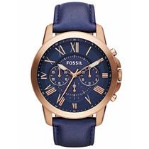 Reloj Fossil Hombre Fs4835 Moda Azul