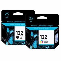 Kit Cartuchos Hp 122 Preto 25ml + Hp 122 Color 15ml Original