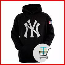 Moleton Blusa Casaco Frio New York Yankees Ny Baseball Swag