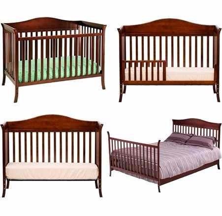 Fantástico 4 En 1 Muebles De La Cuna Del Bebé Ilustración - Muebles ...