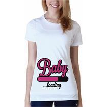 Playera Vinil Personalizada Embarazo Embarazada Bebe
