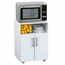Mueble Mesa Auxiliar De Cocina Rack Puerta Microondas Oferta