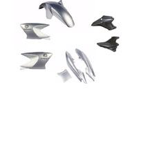 Kit Carenagem Rabeta+abas+tampas Ybr125 Factor Prata 2009/10
