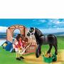 Playmobil 5519 Corcel Negro Con Establo Country
