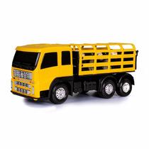 Miniatura Caminhão Boiadeiro Mini Frota - Brinquedo